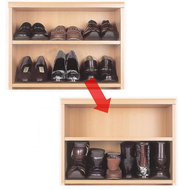 4pcs organize shoe rack / shoe care / shoe tree