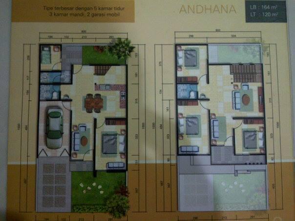 Rumah 2 lantai di Pakal Residence Surabaya