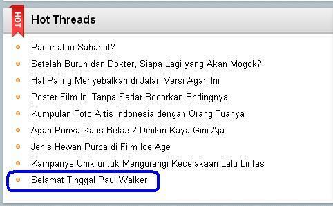 Paul Walker pemeran Fast and Farious Meninggal HARI INI !!