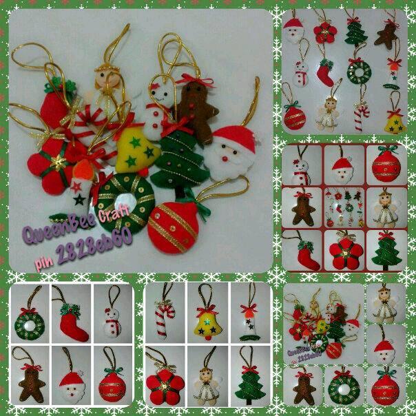 Terjual $$$ Hiasan Natal bahan Flanel handmade unik lucu