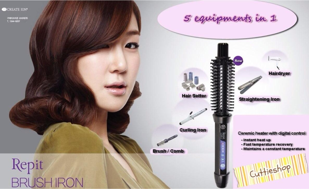 Repit Iron Brush Made in Korea ^_^ Curl,Straight,comb,and dry ur hair with 1equipment