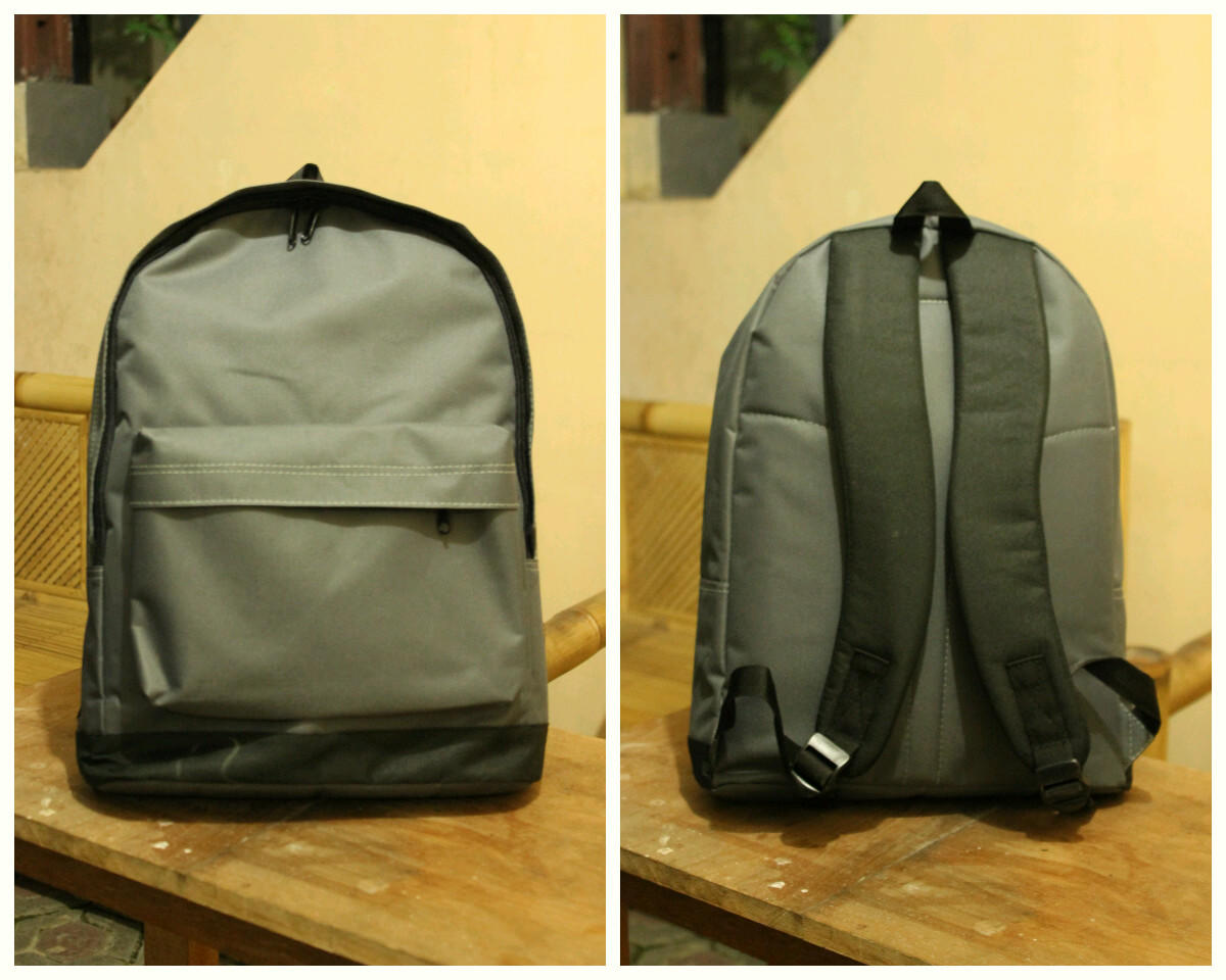 Murah Tas Ransel Polos Bahan Anti Air (Cordura) With Case Laptop Dalamnya 9962b8c4f5