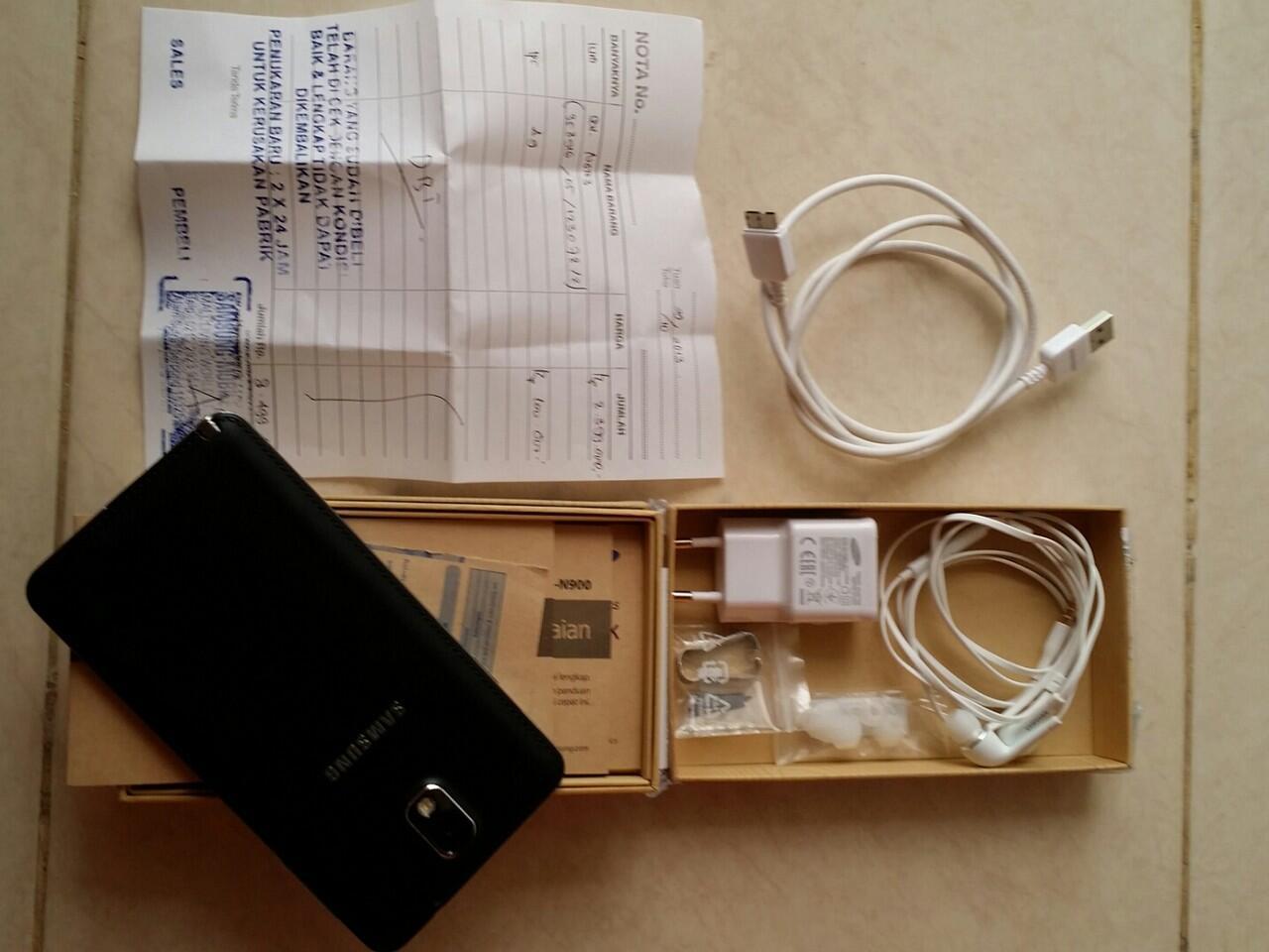 Jual Galaxy Note 3 baru 1 bulan pake