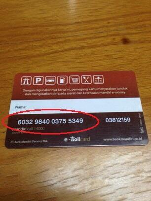 Waspadalah menggunakan kartu Mandiri E-Toll