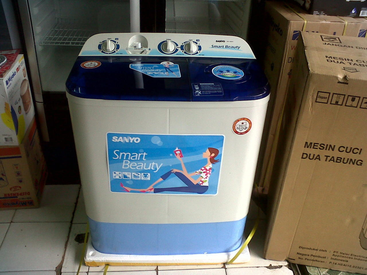 Sanyo Washing Machine Sw 740 Xt Smart Beauty 7 Kg Daftar Harga Mesin Cuci Sw755xt Anti Tikus