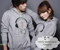 Jaket fleece dan sweater rajut tribal kevas couple 100&140rb