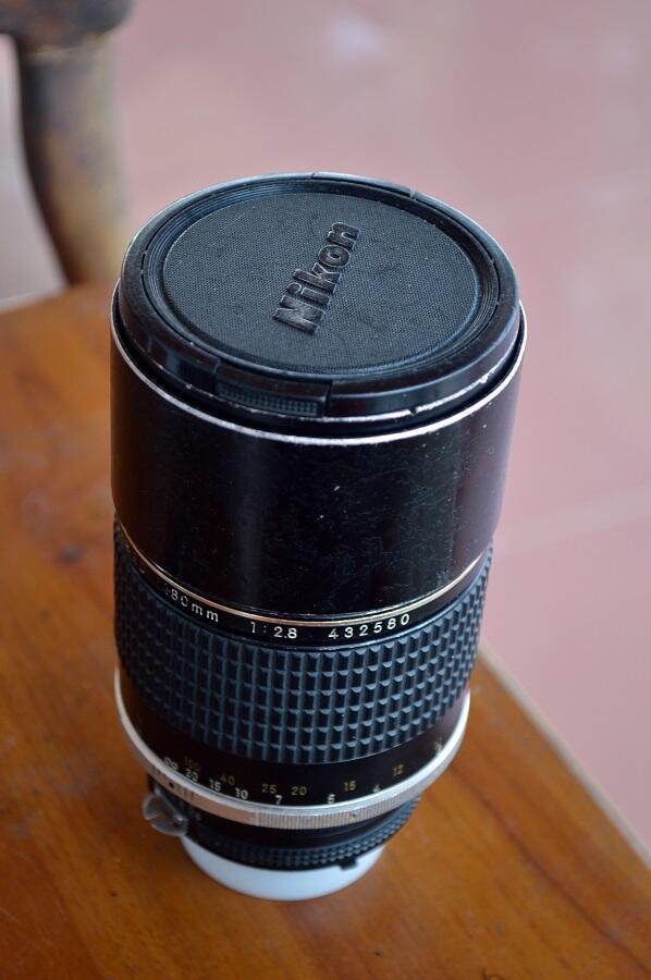 Nikon Nikkor 180mm f2.8 AIS ED bonus Minolta PF rokkor 50mm f1.4