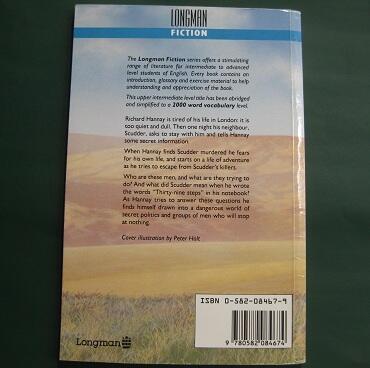 "Buku English Crime Fiction ""The Thirty Nine Steps"""