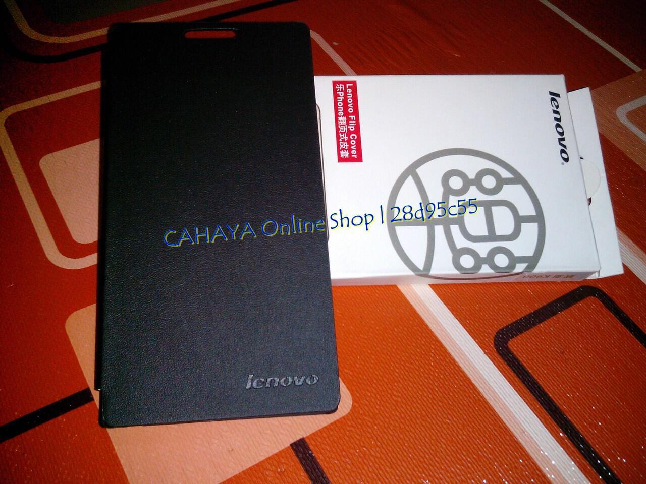 FLIP COVER ORIGINAL LENOVO K900 (Bandoeng)