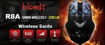 [VERDE] READY STOCK BLOODY R8A Wireless Gaming Mouse BNIB