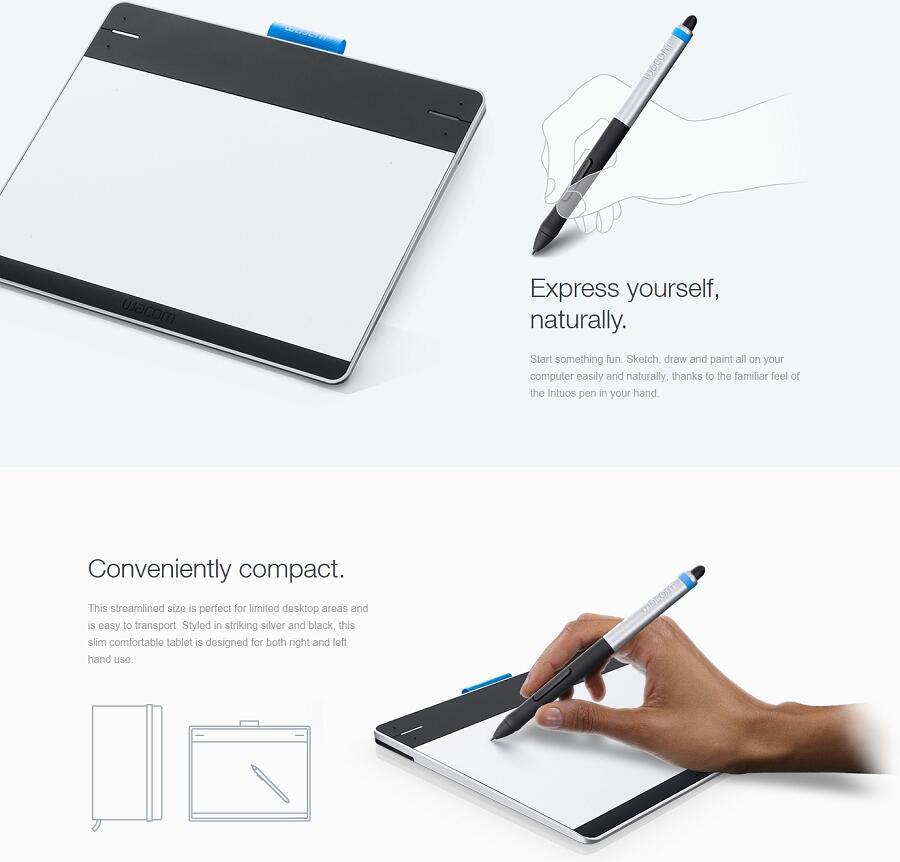 Wacom Intuos Pen CTL480, CTH680 Manga CTH480S, Alat design || New || Bergarani