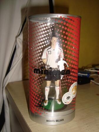 wts jersey jerman (germany) home 2006 #13 michael ballack RARE w bonus action figure