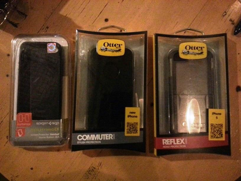 Iphone 5 16gb black BONUS Otterbox commuter+reflex