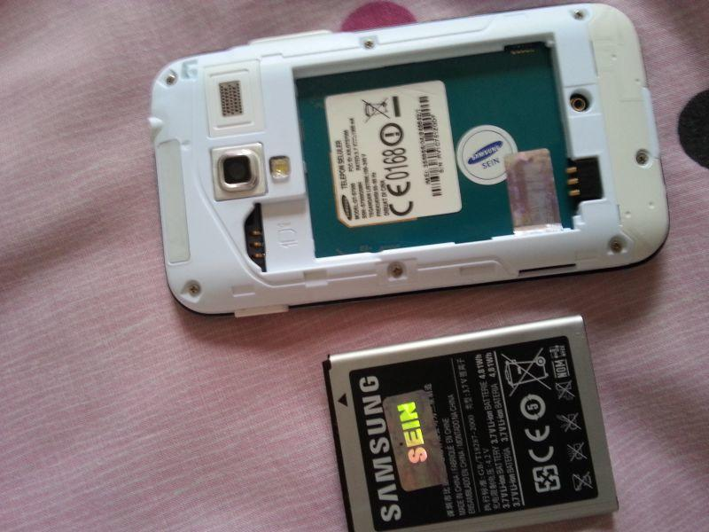 Jual Second Galaxy Ace Plus GT-S7500 White Fullset Mulus