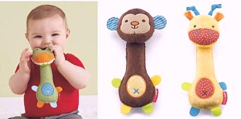 Boneka tarik, ELC stick rattle, Mothercare ring rattle