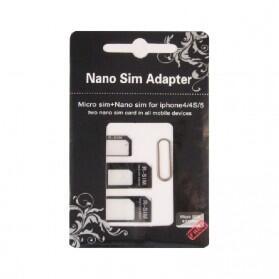 Noosy Nano Micro Sim Cutter 3in1 Function Original Adapter Tool Kit Pemotong Kartu