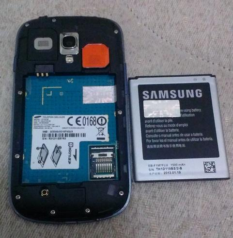 Samsung galaxy s3 mini i8190 pebble blue murah!!!
