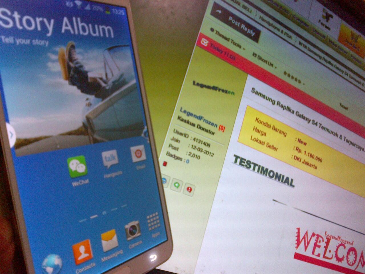 Samsung Replika Galaxy S4 Termurah & Terpercaya.