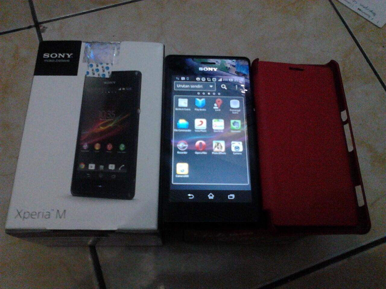 Sony Xperia M Black Mulus Garansi Resmi