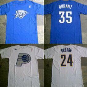 Tshirt OKC#35 Durant & Indiana Pacers #24 George Christmas Series Galeri Basket Yogya