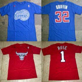 Tshirt Clippers #32 Griffin & Bulls #1 Rose Christmas Series Galeri Basket Yogyakarta