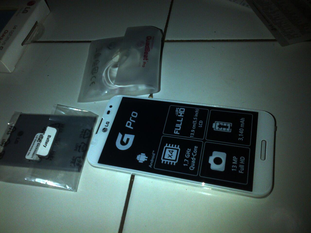 LG Optimus G-Pro White