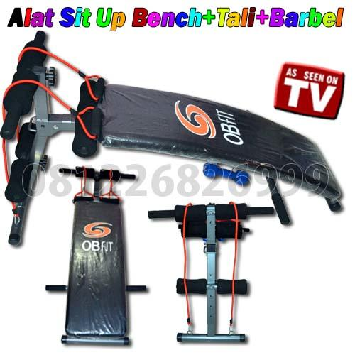 Alat Sit Up Bench+Tali+Barbel Pin BB 2A6D5B30