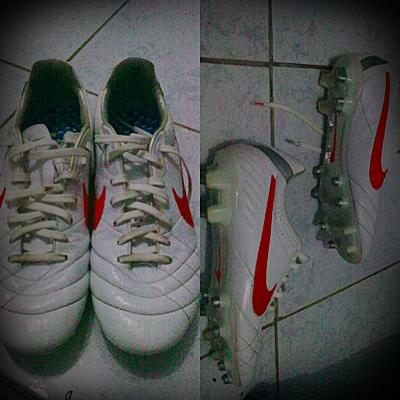 Jual Nike Tiempo Legend IV White Red Size 40,5