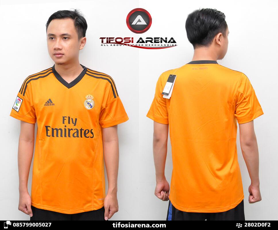 TIFOSI ARENA - Jersey KW Thailand Real Madrid Away Orange 2013-2014