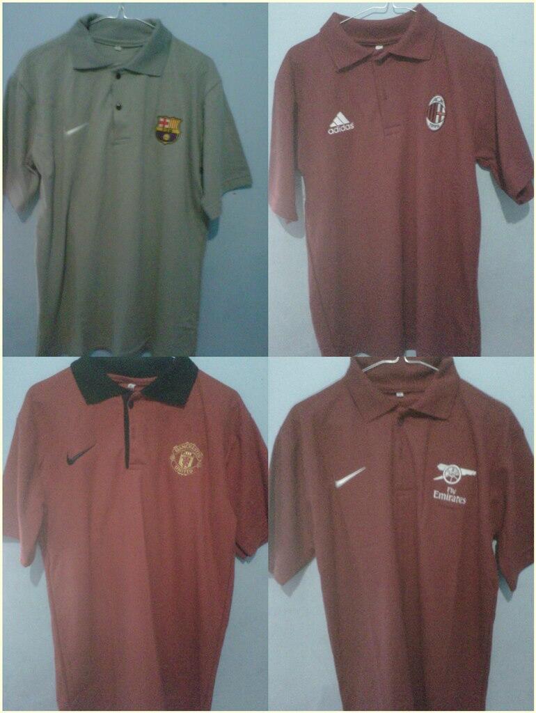 Baju Polo Bola MU , Barca, Milan , Arsenal