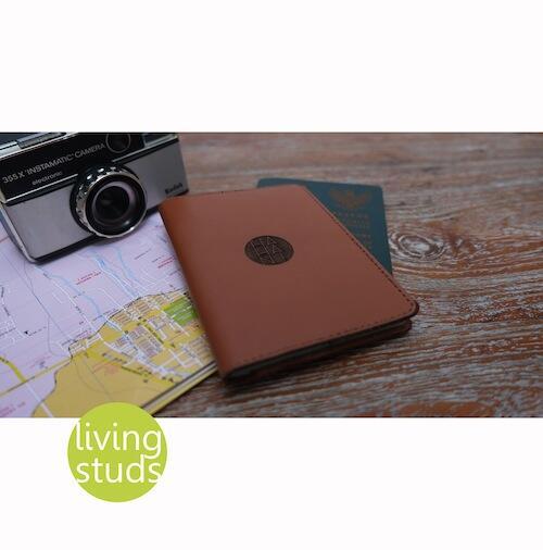 Leather Passport Case with custom sign [dompet paspor]
