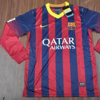 (Ready Stock) Jersey BARCELONA HOME Grade Ori Lengan Panjang / Long Sleeve 13/14