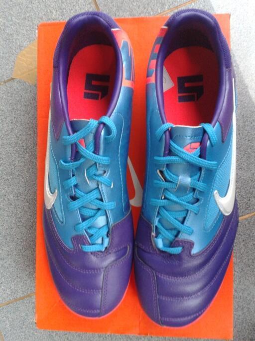 Jual sepatu futsal Nike 5 elastico pro purple/current blue original