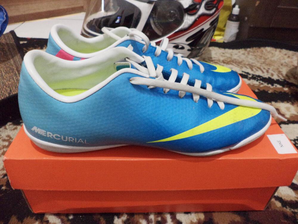 Sepatu Futsal Nike Mercurial Victory IV IC Blue Original