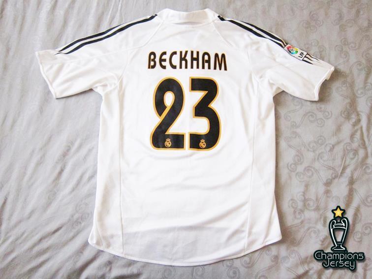 Real Madrid 2004/05 Home 23 Beckham ORIGINAL