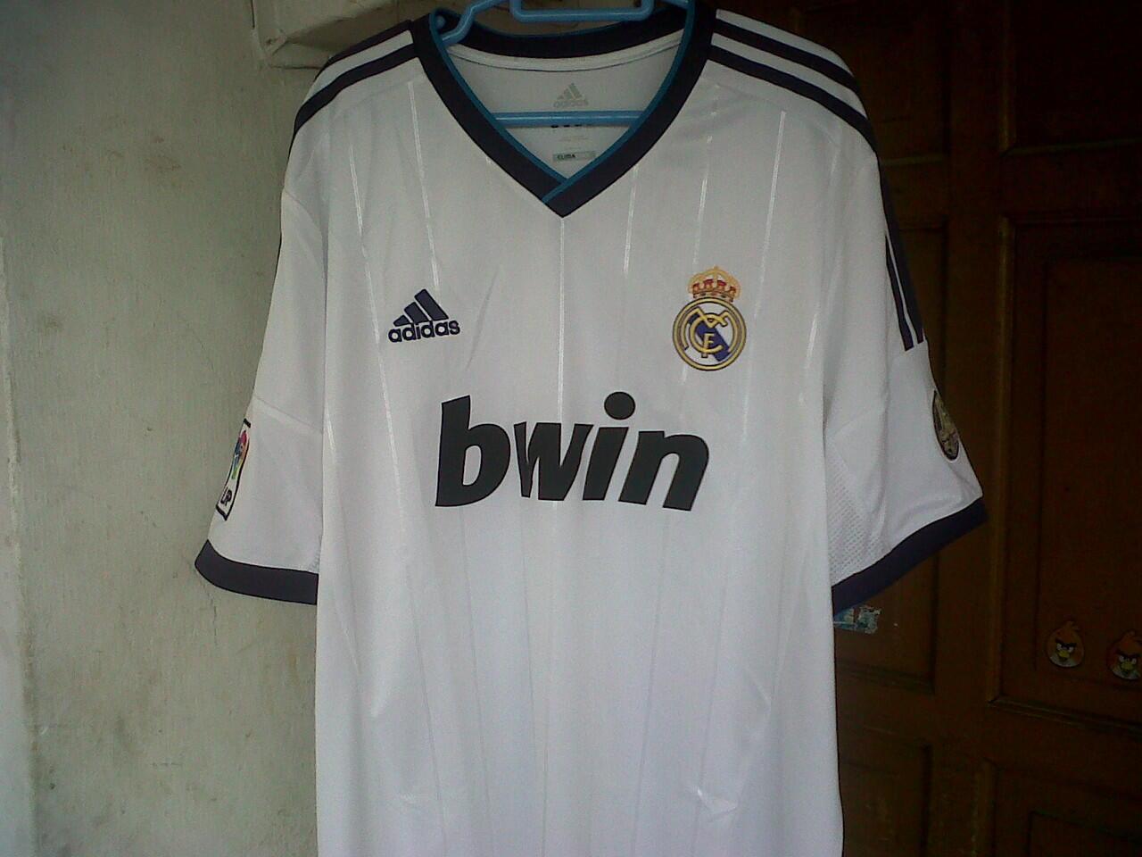 JERSEY REAL MADRID HOME 2012/2013 ORIGINAL. SIZE XL (BOGOR)