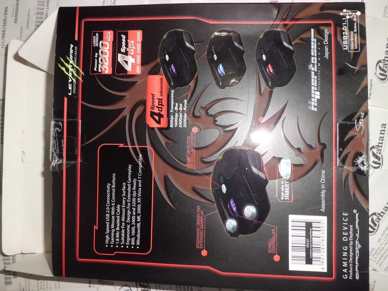 Mouse Gaming Dragon War Leviathan MURAH Jogja