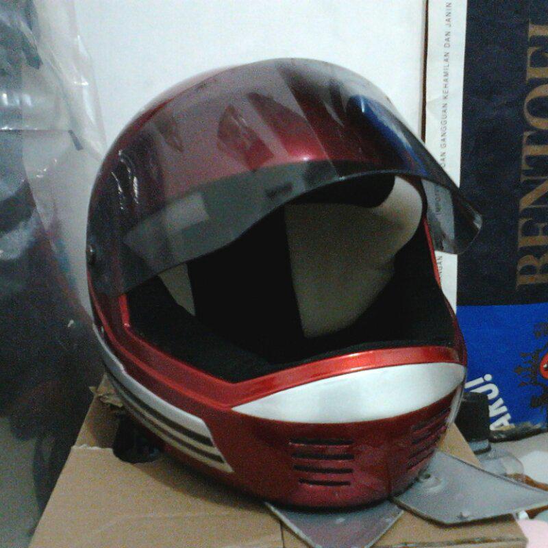 fullface vintage helmet (honda cb vespa yamaha suzuki trail caferacer classic klasik)