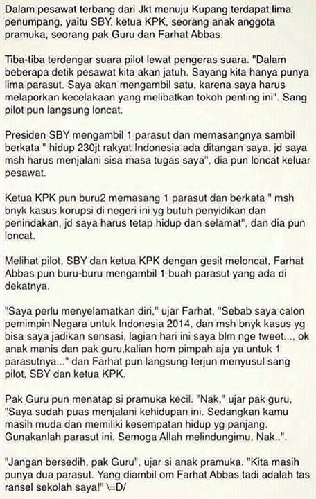 Cerita SBY,Ketua KPK,Farhat Abbas,Guru,Anak Pramuka