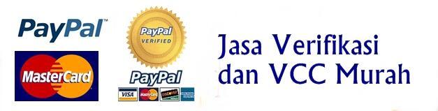 Jasa Verifikasi Paypal, Pembuatan Akun Paypal, Lepas Limit Paypal dan VCC Murah