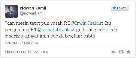 """""""Mesin Tetot"""" Ridwan Kamil (Wali Kota Bandung) untuk Farhat Abbas"""