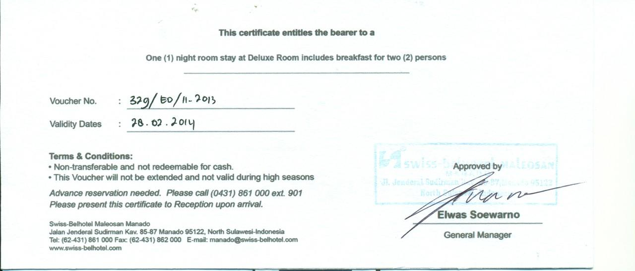 Jual Voucher Hotel di Manado