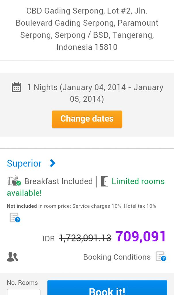 Voucher Hotel Atria Serpong