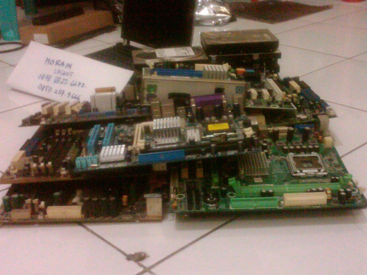Jual Barang Rusak - Mainboard, HDD, Laptop