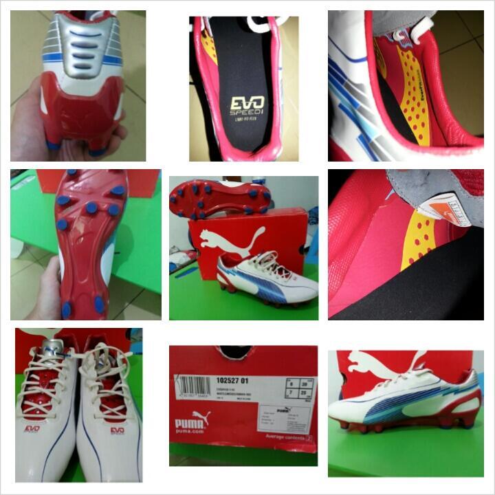WTS Sepatu Bola Puma EVOSPEED 1 FG size 7,murah dan mulus belom pernah dipake