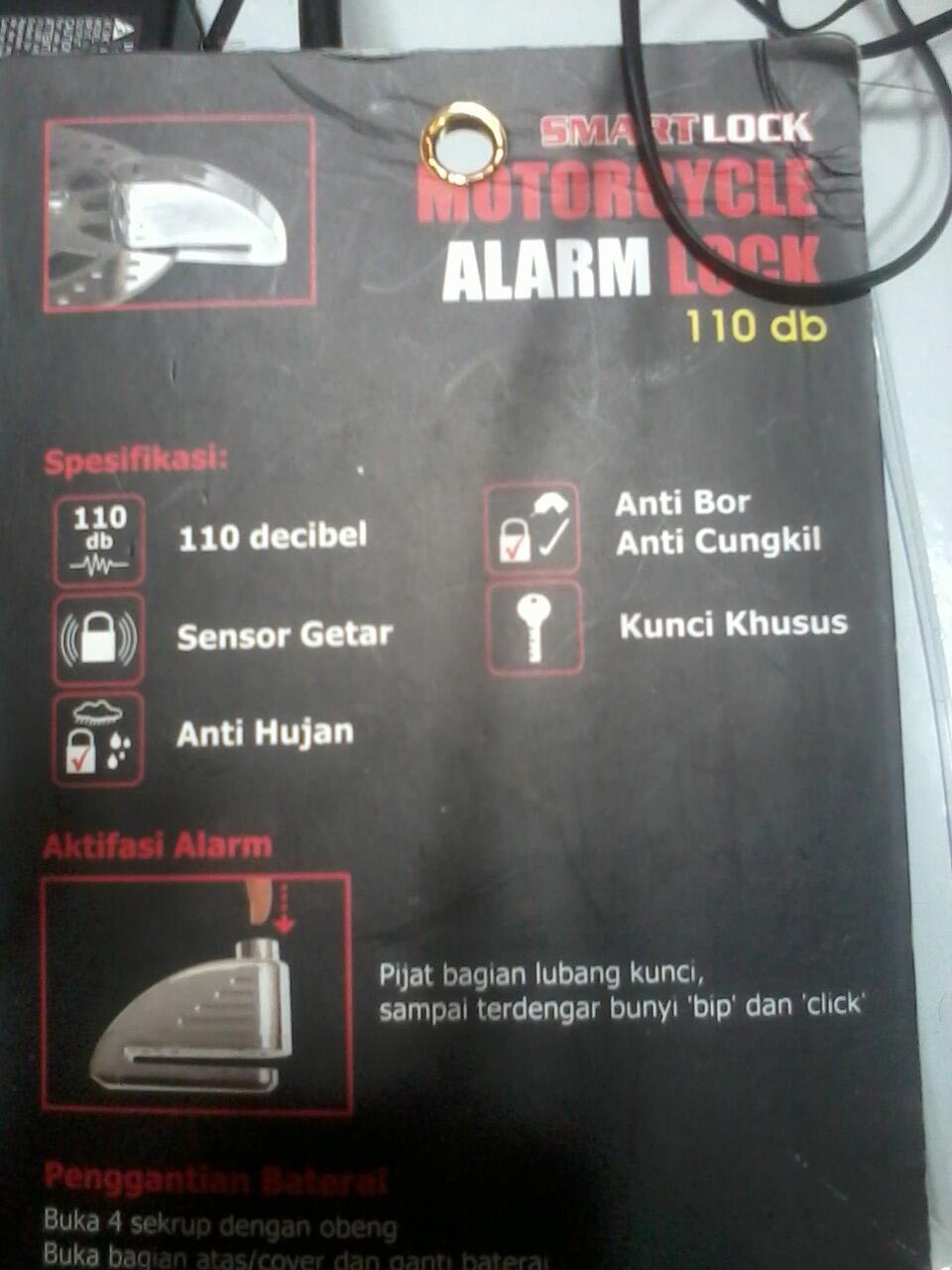 Jual gembok alarm motor / motorcycle alam lock
