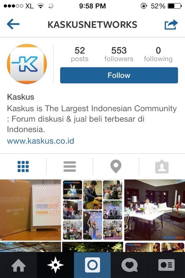 Follow Kaskus on Instagram..