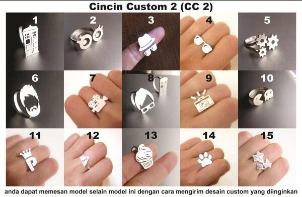 CUSTOMSILVERIA :JUAL Cincin Emoticon,Cincin Mustache,Cincin Unik & Custom,Perak Asli
