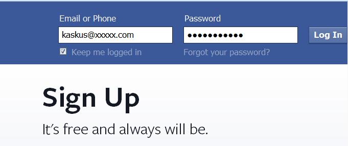 Anda sebenarnya mempunyai 3 password pada akun Facebook
