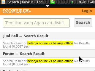 belanja online vs belanja offline (langsung)